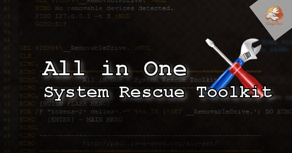 All in One System Rescue Toolkit Screenshot